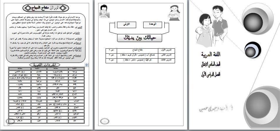 بوكلت اللغة العربية المعدل للصف السادس الابتدائى ترم أول 2020 أ/ أمنية وجدى 6496