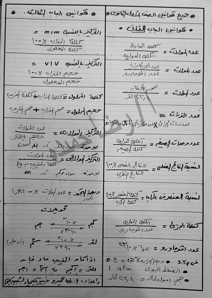 اختبار كيمياء نظام حديث الصف الاول الثانوى 2020 مستر رضا حميدة 6570