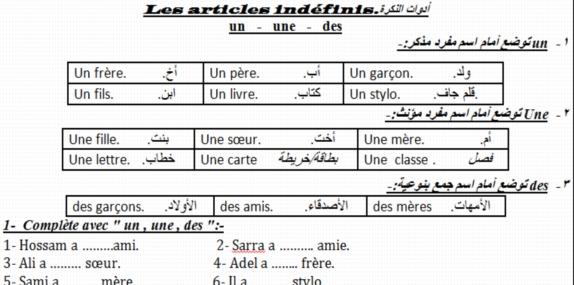 أول وأقوي مذكرة لغة فرنسية للصف الاول الثانوي ترم أول 2019 مسيو حسام ابو المجد 6633