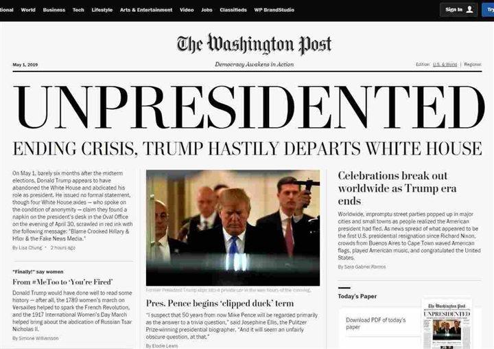 واشنطن بوست تعلن استقالة ترامب 66412