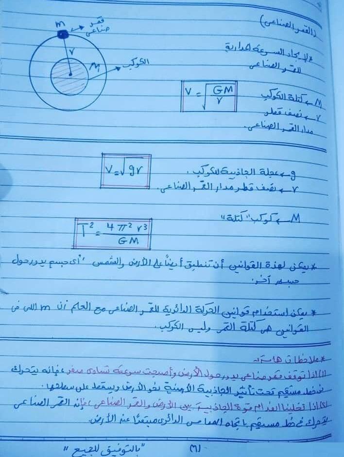 ملخص قوانين الفيزياء للصف الاول الثانوى ترم ثانى 6978