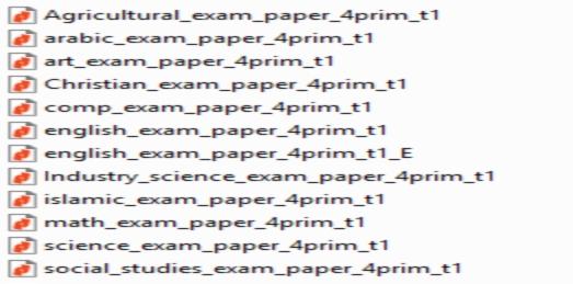 مواصفات الورقة الامتحانية الجديدة لكل مواد الصف الرابع الابتدائي ترم أول 2019 7155