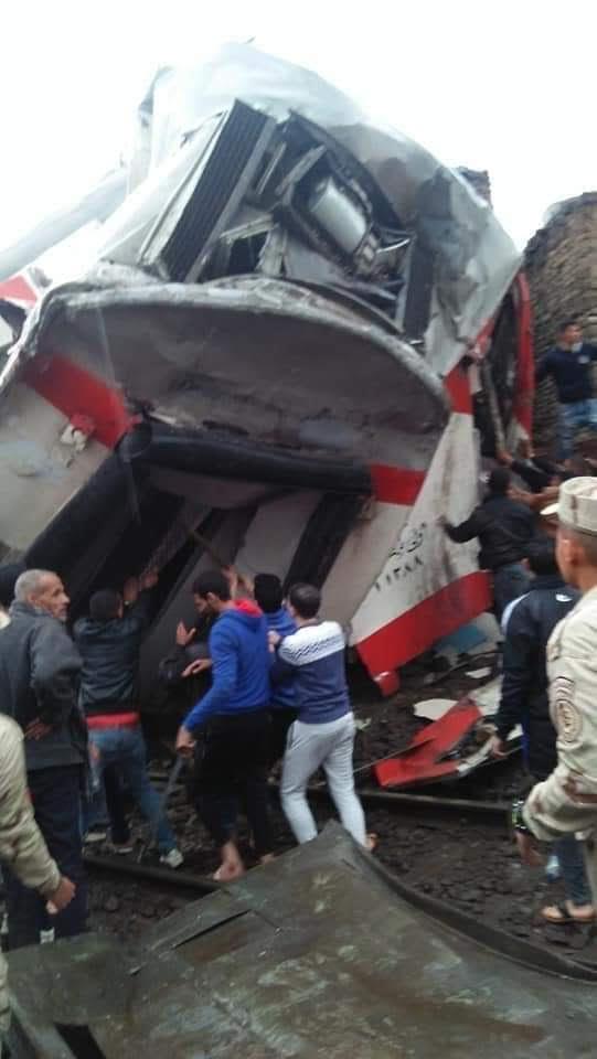 اليوم السابع | تصادم قطارى ركاب بخط الصعيد بين إمبابة ورمسيس 7478