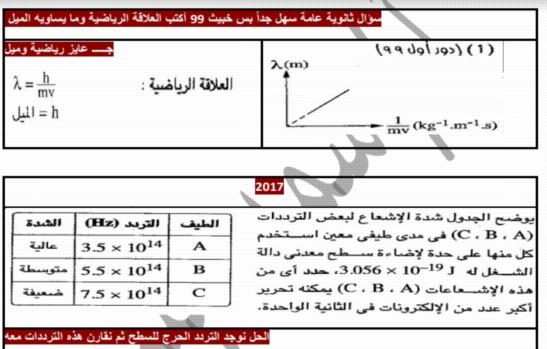 مراجعة الفيزياء الحديثة للثالث الثانوي مستر سمير لبيب 920