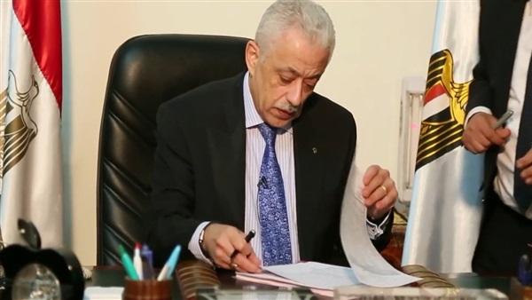 وزير التعليم: امتحانات إلكترونية لطلاب المنازل والخدمات  94323