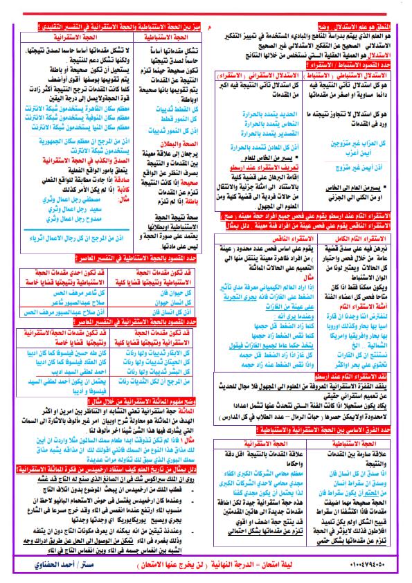 مراجعة المنطق للثانوية العامة في 6 ورقات.. مستر/ أحمد الحفناوي Aaa_ao13