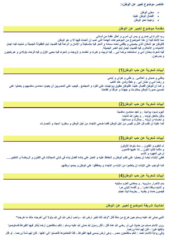 """موضوع تعبير عن """"الوطن"""" متوقع في امتحانات 2019 Aii_oo14"""