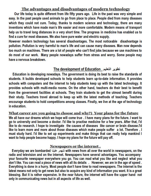 مراجعة أهم براجرافات اللغة الانجليزية للثانوية العامة مستر/ طه الطحاوي  Aiio_a14
