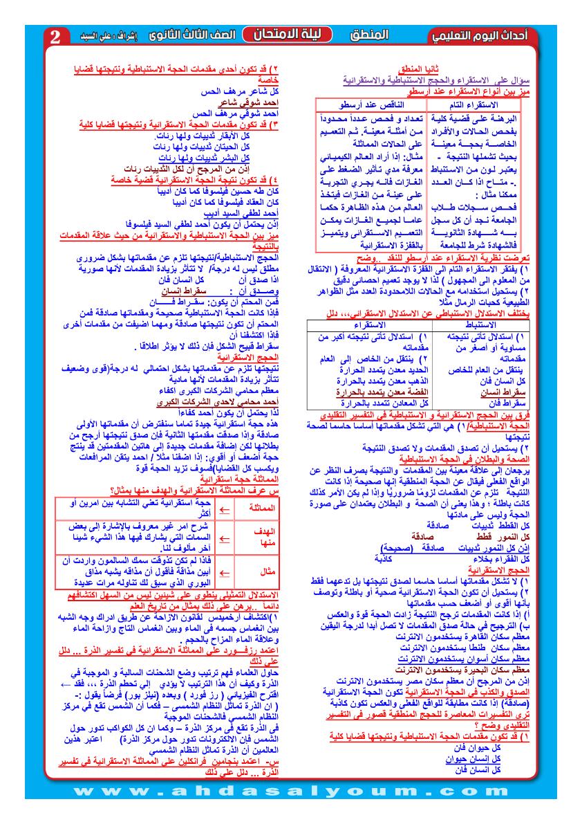 مراجعة المنطق للثانوية العامة.. جريدة أحداث اليوم التعليمي Aoao_a13