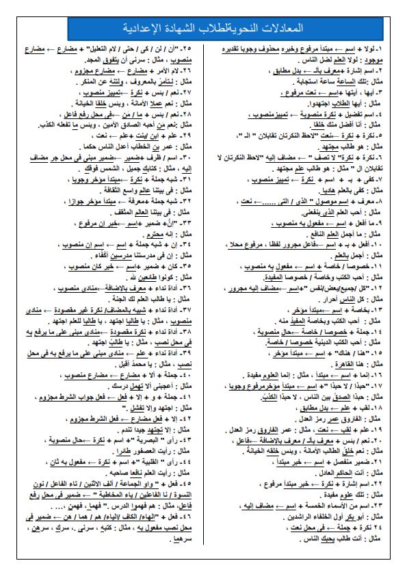 اختبر نفسك امتحان تجريبى لغة عربية نصف العام للصف الثالث الاعدادى 2020 Aoyao_16