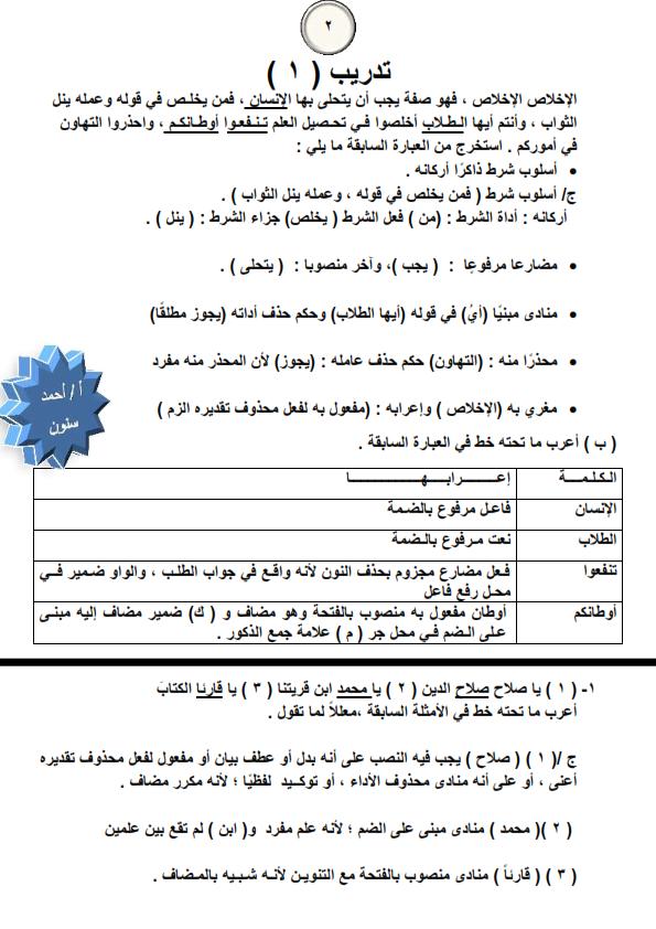افضل مراجعات مادة النحو للثانوية الازهرية Ayi_3_11