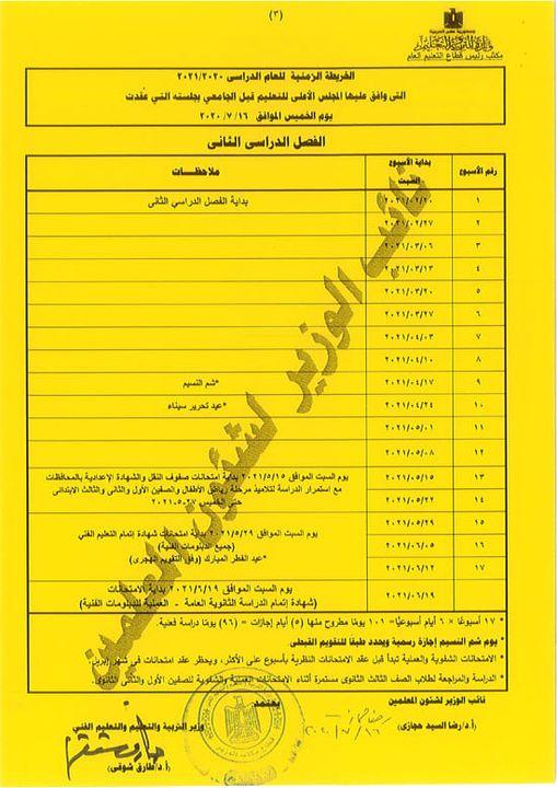 موعد امتحانات الفصل الدراسي الأول 2020 / 2021 Fwefre12