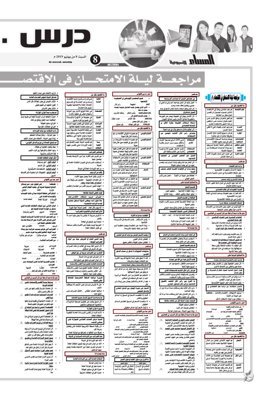 مراجعة ليلة الإمتحان في الاقتصاد لثالثة ثانوي - جريدة المساء Ilovep67
