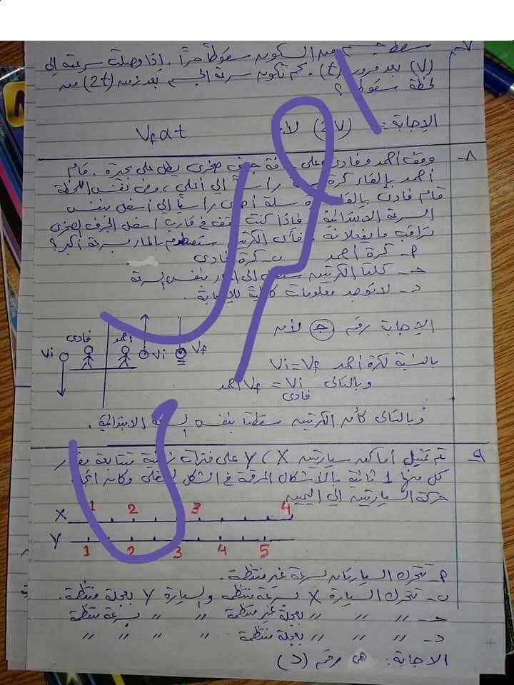 إجابة اختبار الوزارة فى الفيزياء للصف الأول الثانوي ترم أول 2019  أ/ أحمد سامى Iyoo_a10