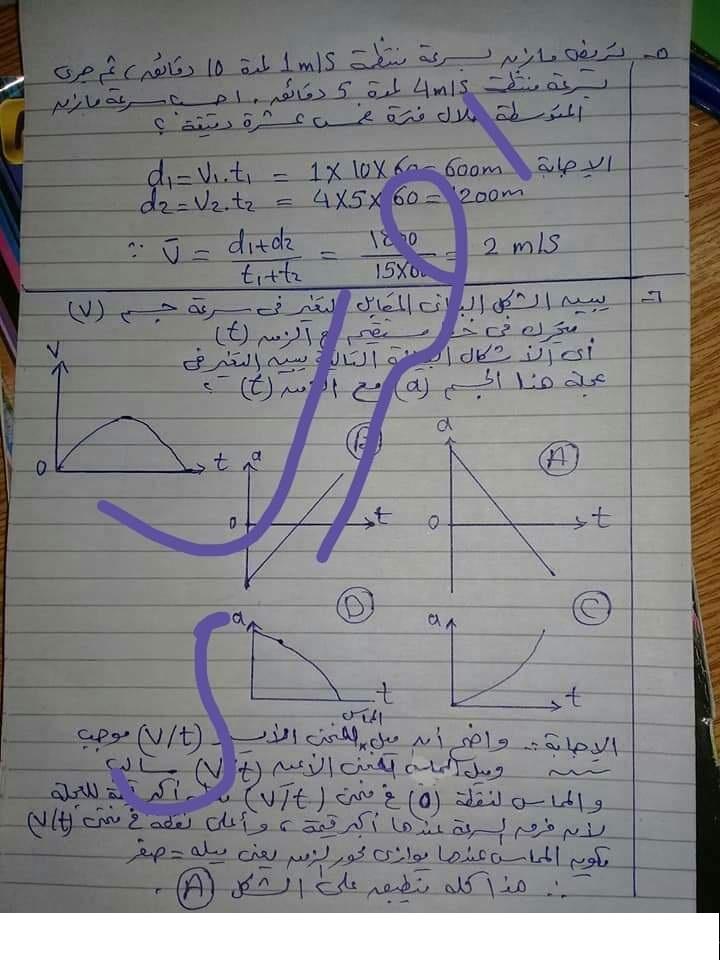 إجابة اختبار الوزارة فى الفيزياء للصف الأول الثانوي ترم أول 2019  أ/ أحمد سامى Iyoo_a12