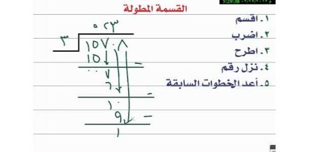 حل مشكلة التلاميذ مع مسائل القسمة المطولة وشرحها بطريقة عبقرية ومبسطة جدا.. أ/ هانى شكرى حجازى Oao_aa10