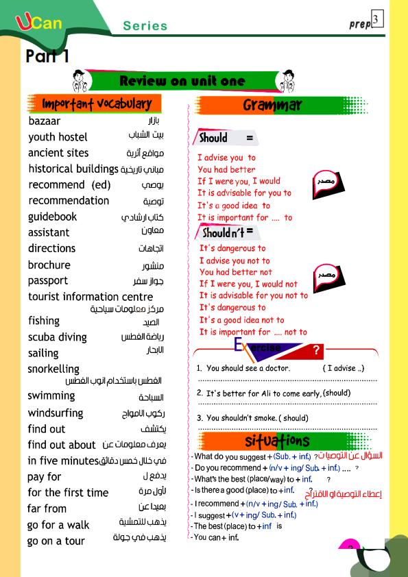 لغة انجليزية.. المراجعة النهائية للصف الثالث الاعدادي 2020 Prep_314
