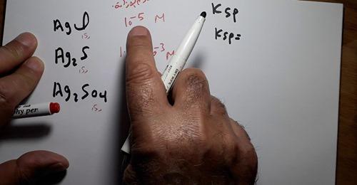 مراجعة كيمياء ثالثة ثانوي | مسائل حاصل الإذابة بطريقة سهلة | الاتزان الكيميائي مستر أحمد الحبشي Safe_241