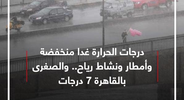 الارصاد: درجات الحرارة غدا منخفضة وأمطار ونشاط رياح.. والصغرى بالقاهرة 7 درجات Untitl50