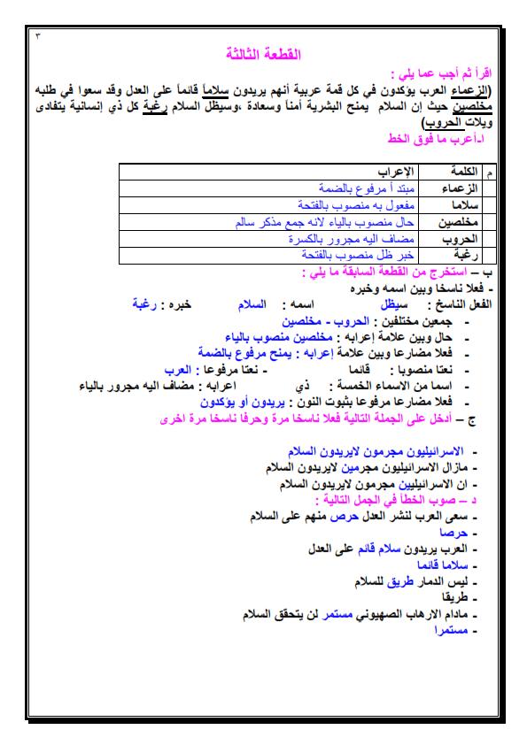 8 قطع نحو مجابة للصف السادس الابتدائي مهمة لامتحان الترم الاول Yoo_0015