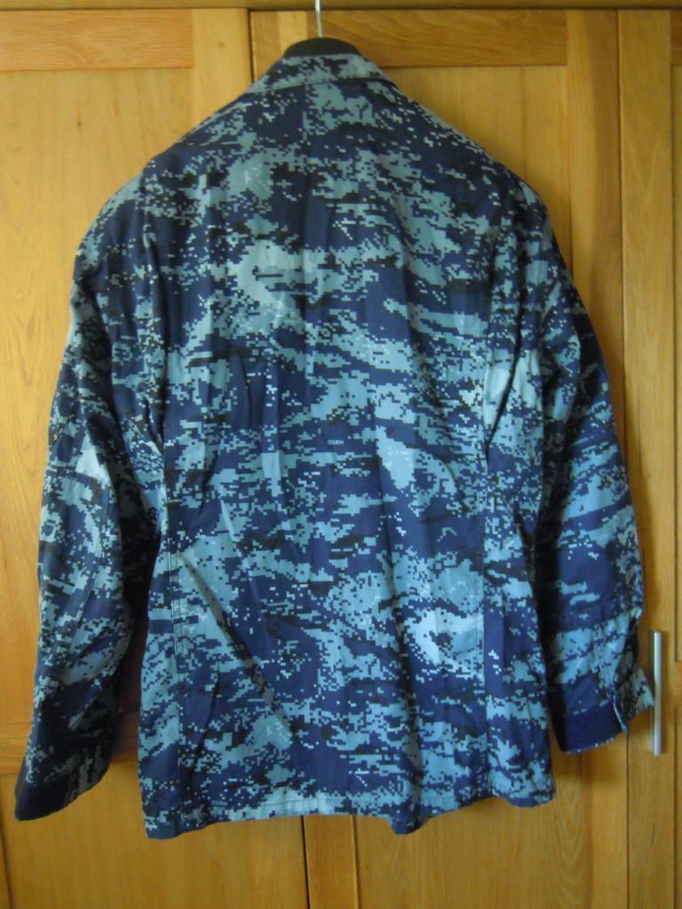 Croatian navy digital-camo shirt fully patched K1024_12