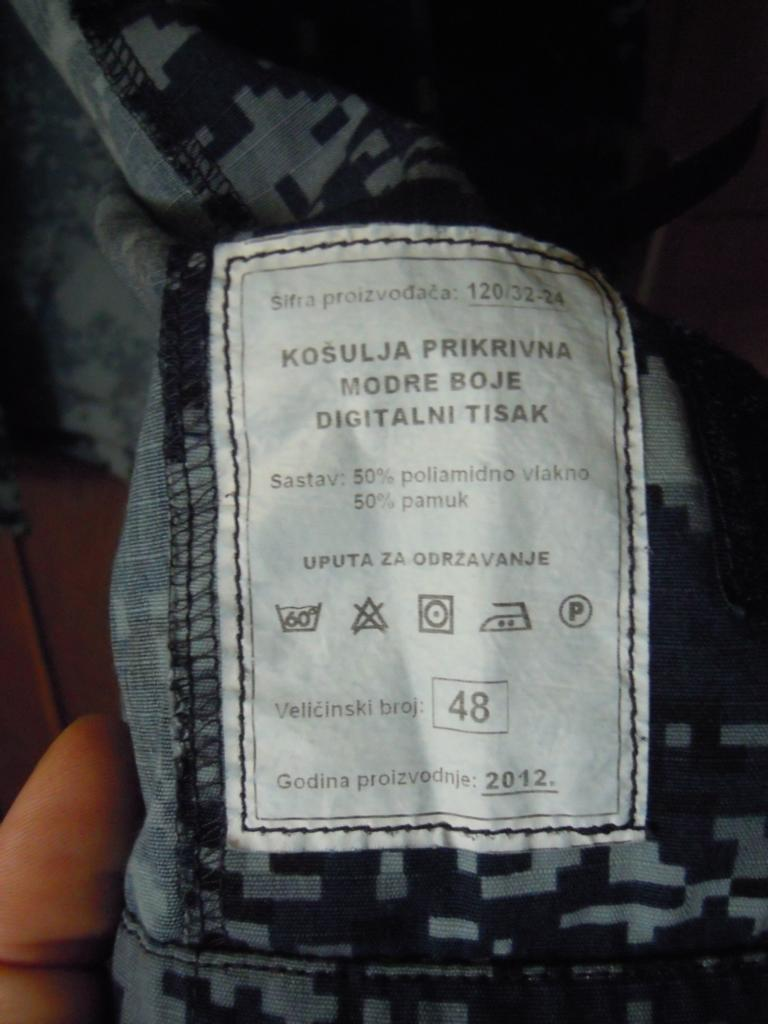 Croatian navy digital-camo shirt fully patched K1024_15