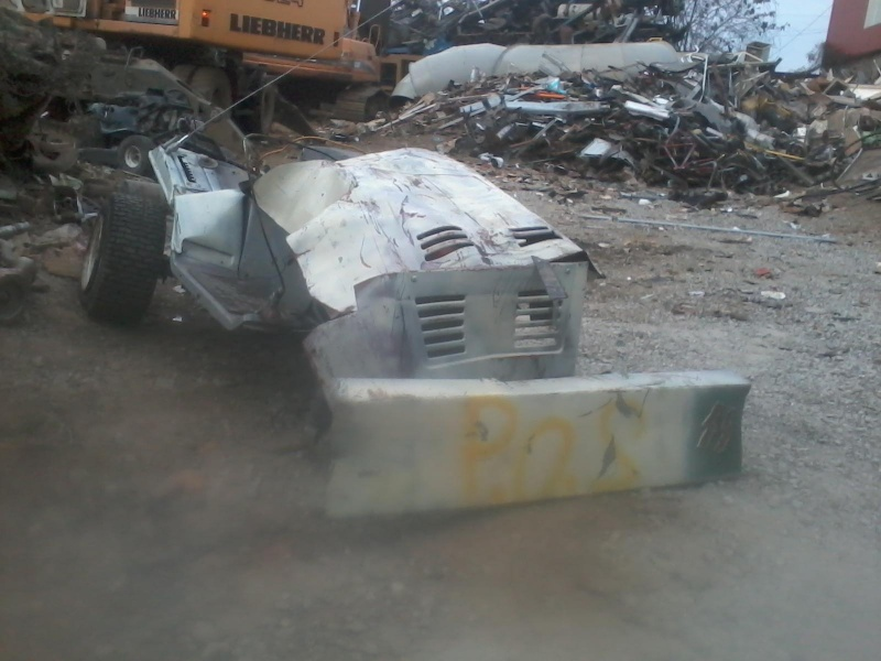what dose your old mower look like after a crane got to it 11031610