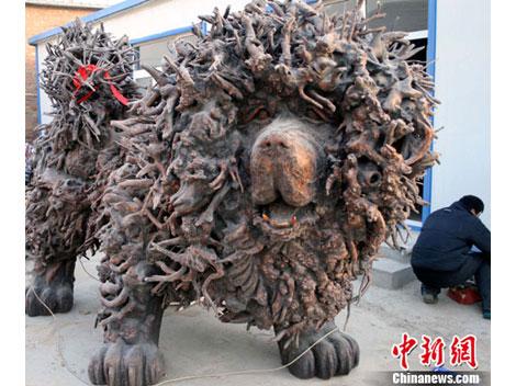 Sculture Dogue du Tibet Scultu10