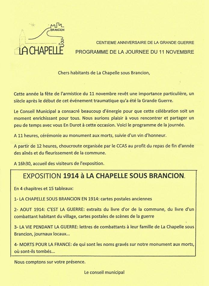 PROGRAMME DE LA JOURNÉE DU 11 NOVEMBRE 2014 Scan_210