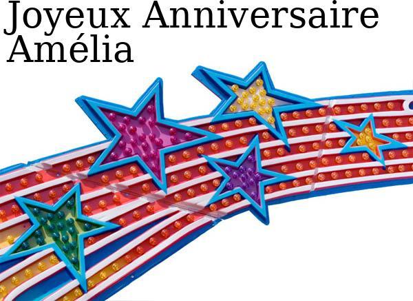 Amélo, Amélie, Amélia Joyeux anniversaire Carte-11