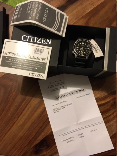 citizen - [Vendue] Citizen Ny0040-09E Img_1911