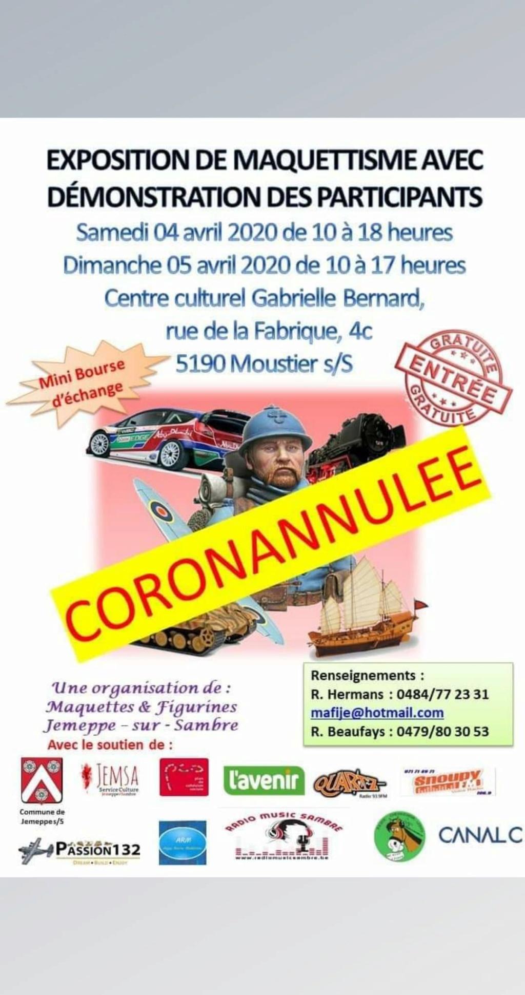 Expos & bourses - annulation & coronavirus 90631910