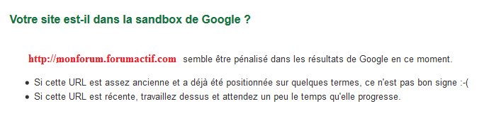 Mon forum subit-il une pénalité Google ? 05-11-17