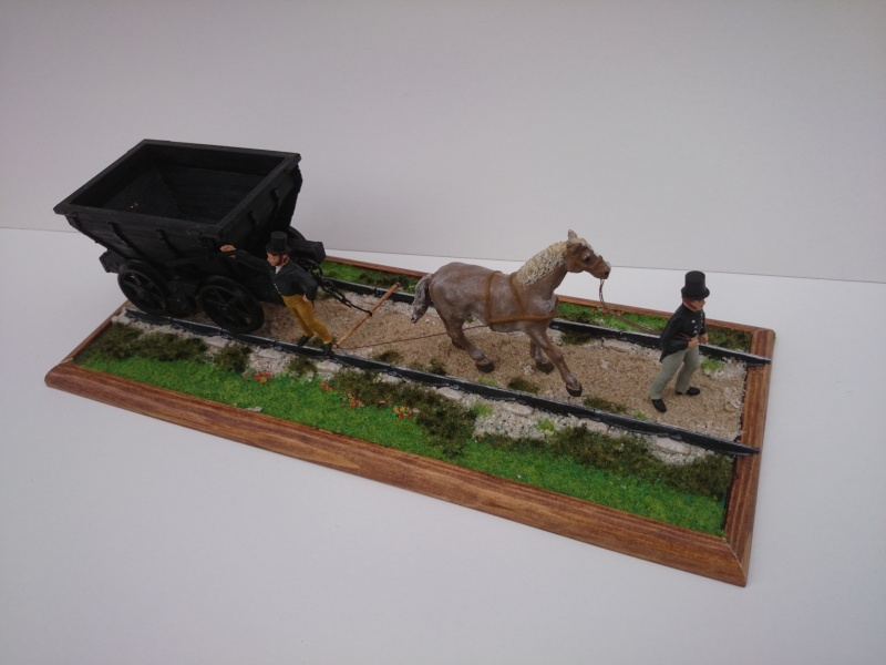 Pferdebahn mit Fischbauchgleis für Kohlenlore 1:32 Dsc_0217