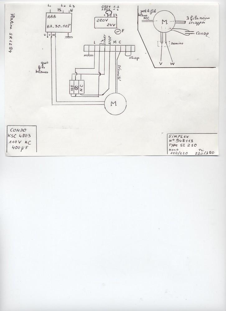 problème interrupteur Scie110