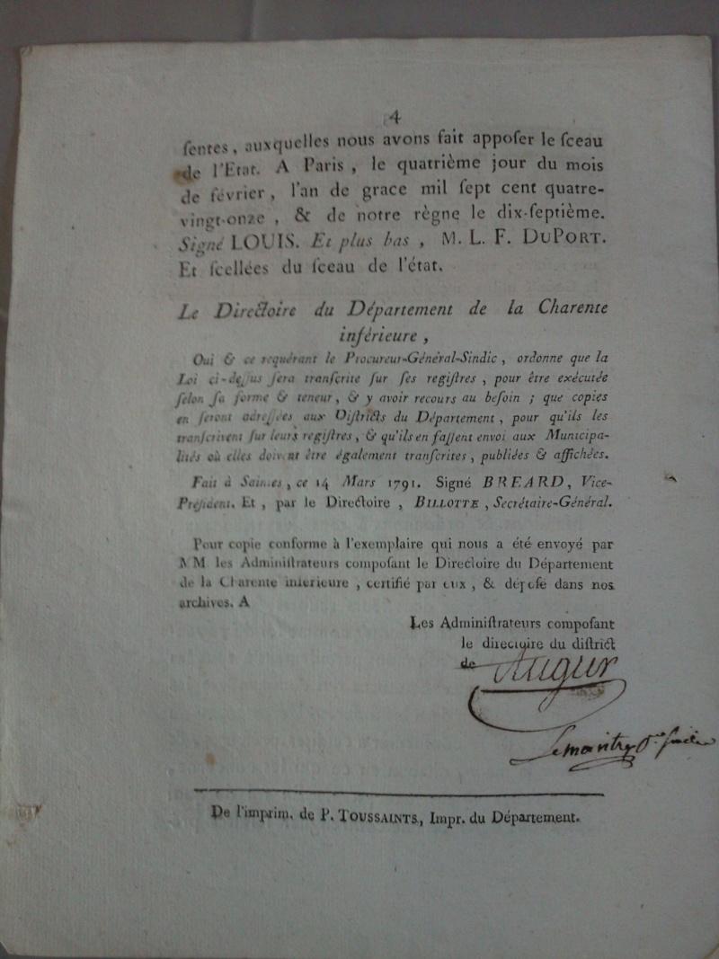 Loi portant sur la sureté du royaume - 4 février 1791 Photo013
