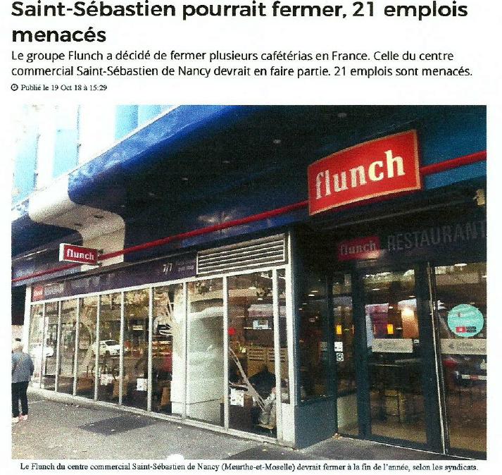 Article ACTULORRAINE du 20/10/18 FERMETURE FLUNCH Nancy Saint-Sébastien Photo_11