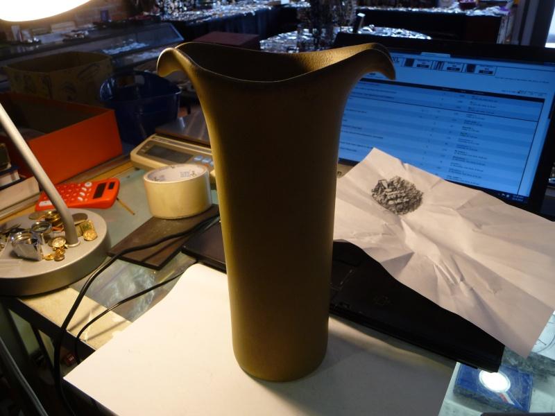 Unknown Light Green Vase, Signed On Base P1200614