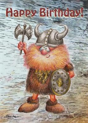 Bon anniversaire Viking Carte_10
