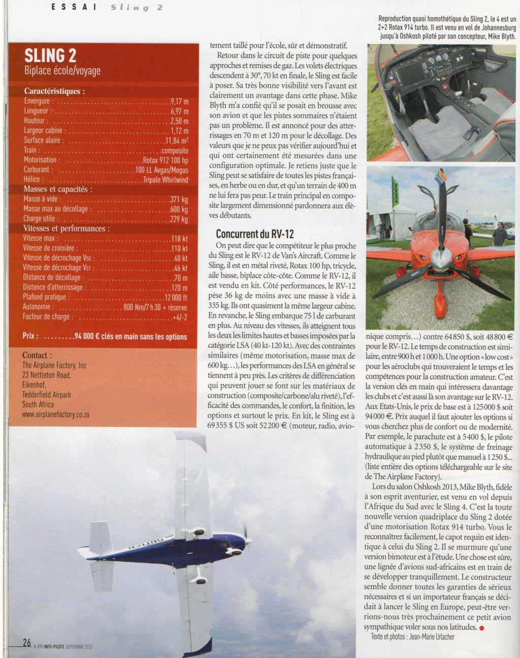 Sling 2 Article Info Pilote Info_p25
