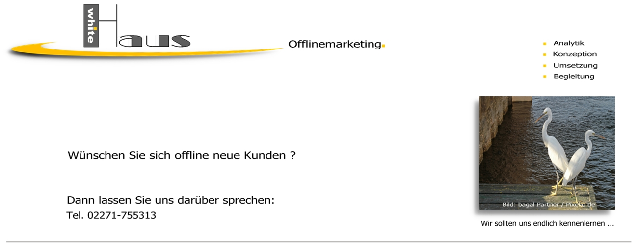 white Haus Offlinemarketing - Dialog + Direkt