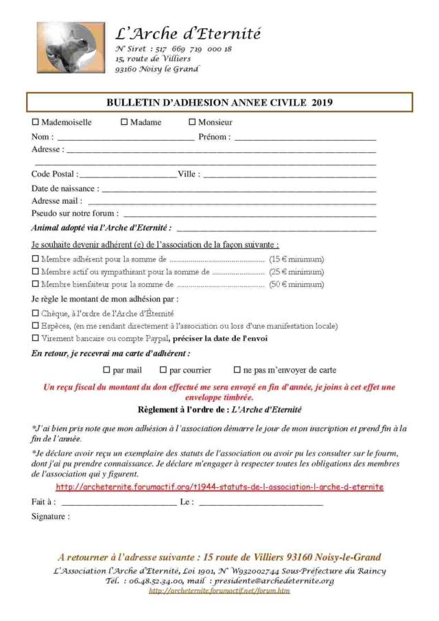 Nouvelle année, pensez à prendre votre adhésion 2019 Bullet11