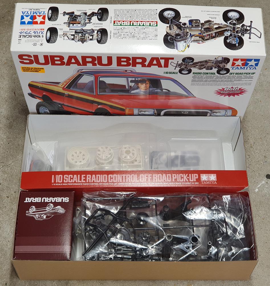 "[VENDU] Tamiya Subaru Brat sauf carro ABS + roues et pneux 1.9"" 20200814"