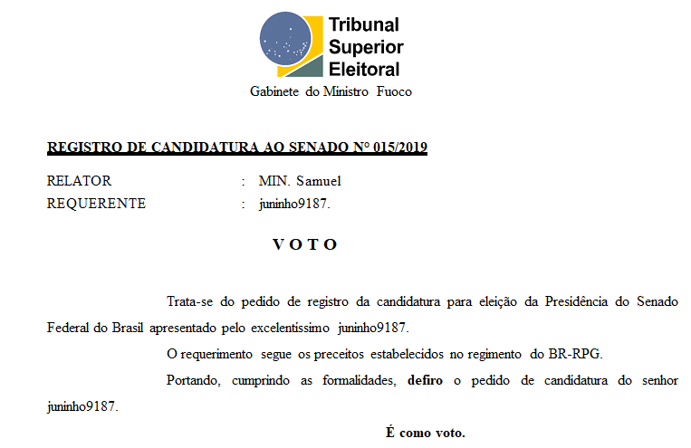 [REQ] Registro de Candidatura 015/2019 Screen26