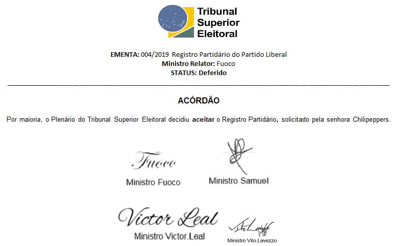 [REQ] 004/2019 Registro Partidário do Partido Liberal Screen30