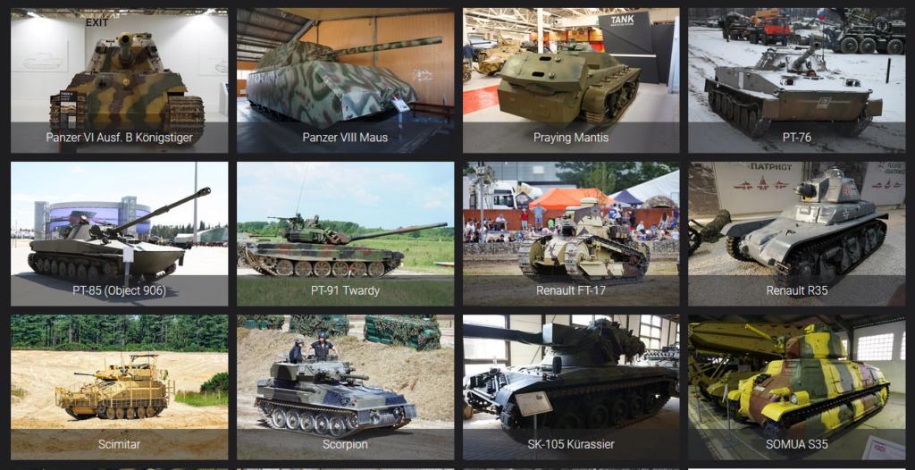 Lien pour détails de véhicules blindés Reconm27