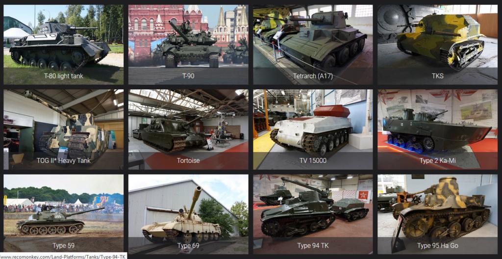 Lien pour détails de véhicules blindés Reconm31