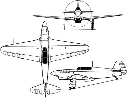 """YAK-1 """"early"""" produit avec des moules dignes de Tchernobyl... - Mister Craft - 1/72 Yak1bl10"""