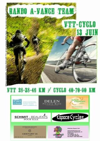 Ce dimanche 13 juin : cyclo et vtt à Vance Avance13