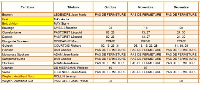 Calendrier des chasses : 2021-2022 Chasse10